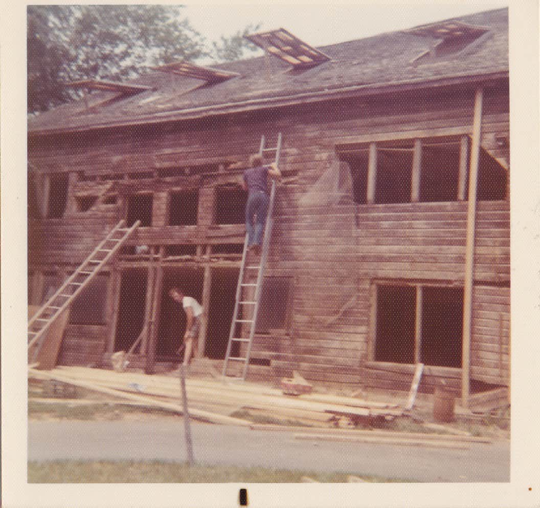 Transitioning the barn from a coop to the market, circa 1970