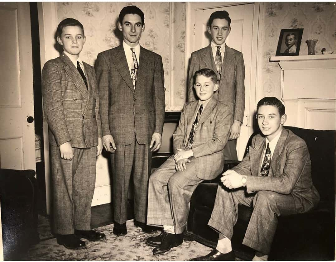 James, Fred, Willy, Henny, and Sam circa 1948